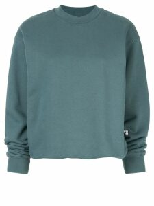 T By Alexander Wang long-sleeve fitted sweatshirt - Blue