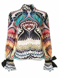 Mary Katrantzou geometric long-sleeve blouse - Multicolour