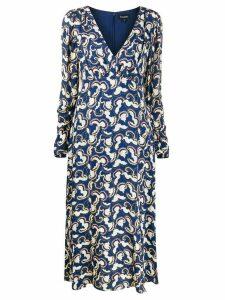 Saloni printed midi dress - Blue