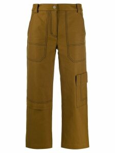 3.1 Phillip Lim cropped twill cargo trousers - Brown