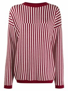 Sara Lanzi striped jumper - Red