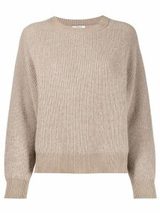 Peserico ribbed jumper - NEUTRALS