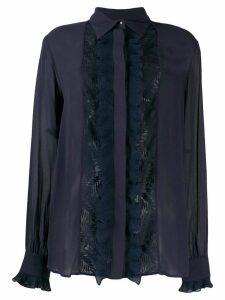 Just Cavalli lace panel blouse - Blue