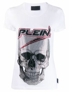 Philipp Plein space skull T-shirt - White