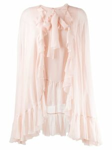 Giambattista Valli ruffled cape blouse - Pink