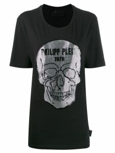 Philipp Plein crystal skull T-shirt - Black