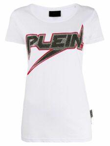 Philipp Plein logo print T-shirt - White