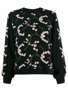Giambattista Valli floral sweatshirt - Black