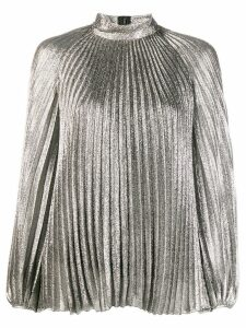 Giambattista Valli metallic pleated blouse - Silver