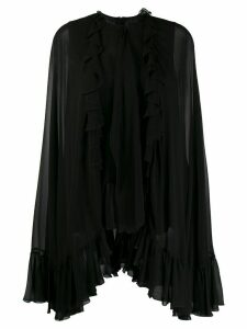 Giambattista Valli ruffled long-sleeved blouse - Black