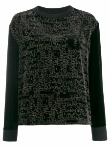 Giambattista Valli logo velvet jumper - Black