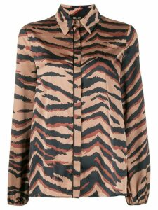 LIU JO Tiger print shirt - Brown