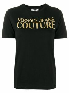 Versace Jeans Couture gold-tone decal T-shirt - Black