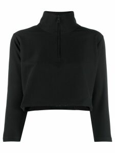 Kappa cropped funnel-neck top - Black
