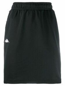 Kappa logo embroidered mini skirt - Black
