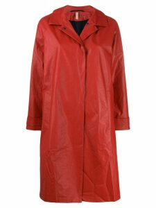 Indress snap closure trench coat - Red