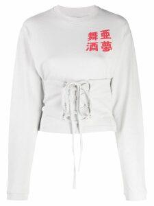 Ambush corset waistband sweater - Grey