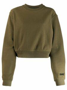 Reebok x Victoria Beckham cropped sweatshirt - Green