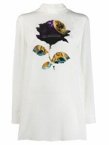 Valentino space rose print blouse - White