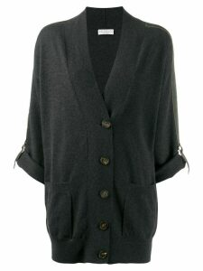 Brunello Cucinelli buckle detail cardigan - Black