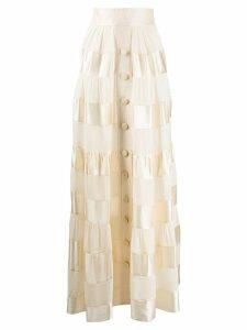 Zimmermann long tiered skirt - NEUTRALS