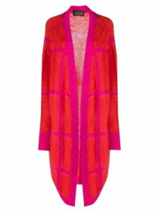 Gianluca Capannolo check patterned long cardigan - Red