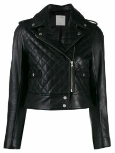 Sandro Paris quilted biker jacket - Black