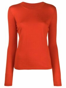 Barrie slim-fit jumper - ORANGE