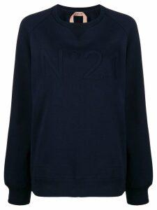 Nº21 tonal logo appliqué sweatshirt - Blue
