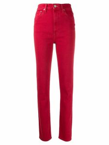Helmut Lang high spiked jeans - Red