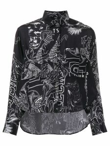 Diesel printed fluid shirt - Black