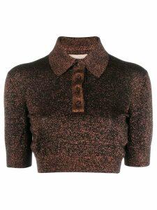 Michael Michael Kors glitter detail polo shirt - NEUTRALS