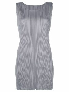 Pleats Please Issey Miyake sleeveless blouse - Grey