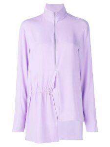 Tibi modern drape zip front tunic top - PINK