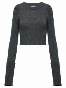 Prada slim ribbed sweater - Grey