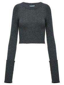 Prada slim ribbed sweater - Grey