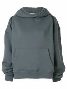 Alexander Wang zipped shoulder hoodie - Blue