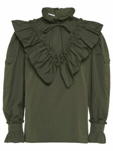 Miu Miu ruffled blouse - Green