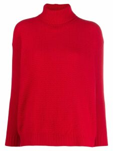 Marni mixed-stitched knitted sweater - Red