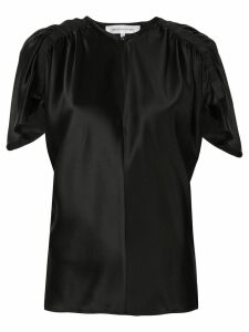 Christopher Esber ruched detail blouse - Black