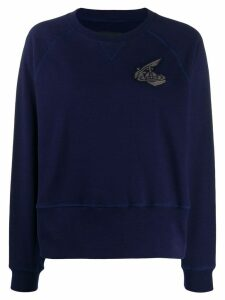 Vivienne Westwood Anglomania embroidered logo sweatshirt - Blue