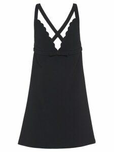Miu Miu scalloped faille cady dress - Black
