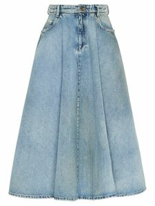 Miu Miu Iconic A-line skirt - Blue