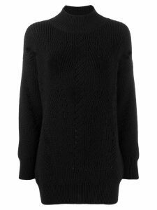 Alberta Ferretti distressed knit jumper - Black