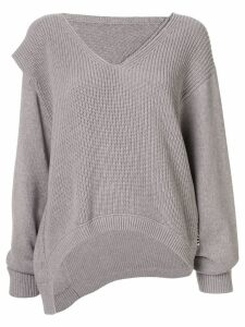 Alexander Wang Utility V-neck jumper - Grey