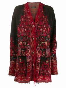 Etro patterned knit cardigan - Red
