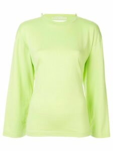 Ground Zero gathered jersey top - Green