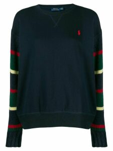 Polo Ralph Lauren striped sleeve sweater - Blue