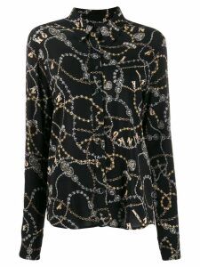 Pinko jewelry print shirt - Black