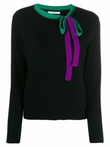 Chinti and Parker bow detail jumper - Black